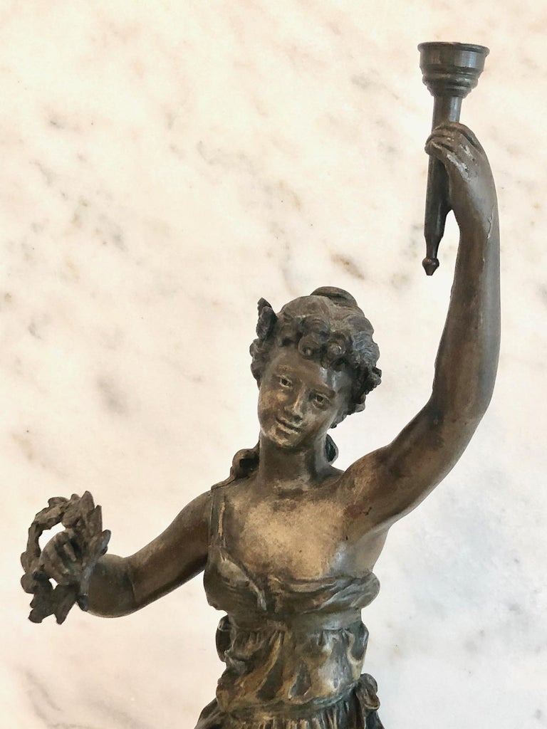 Magnificent Large French 19th Century Bronze Sculpture In Good Condition For Sale In Hopewell, NJ