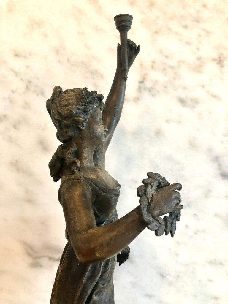Magnificent Large French 19th Century Bronze Sculpture For Sale 5