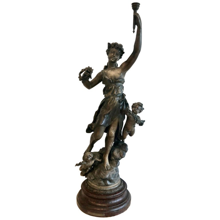 Magnificent Large French 19th Century Bronze Sculpture For Sale