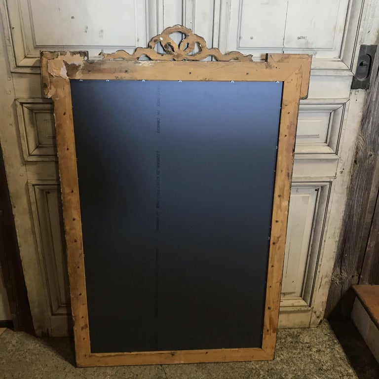 Magnificent Large French Antique Giltwood Mirror with Ribbon Bow For Sale 4