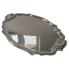 Magnificent Large French Silver Plated Drinks Tray, c.1900