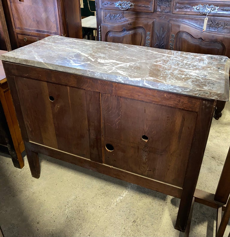 Magnificent Mahogany and Marble Credenza with Gorgeous Bronze Adornments For Sale 11