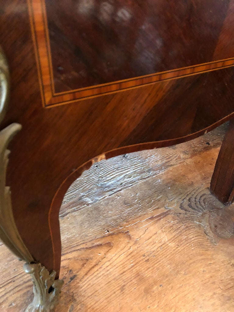 Magnificent Mahogany and Marble Credenza with Gorgeous Bronze Adornments For Sale 1