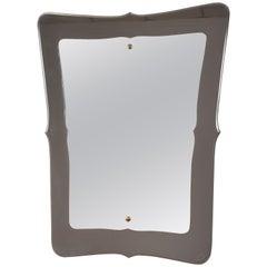 Magnificent Mirror, Fontana Arte Style, Italy, 1950s, Midcentury Italian