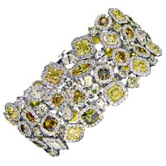 Magnificent Multicolored Diamond Bracelet