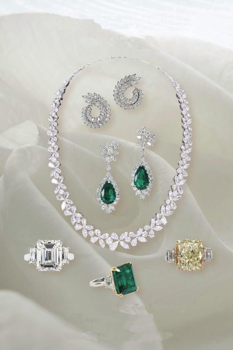 Women's Magnificent Multi Shape Diamond Necklace For Sale
