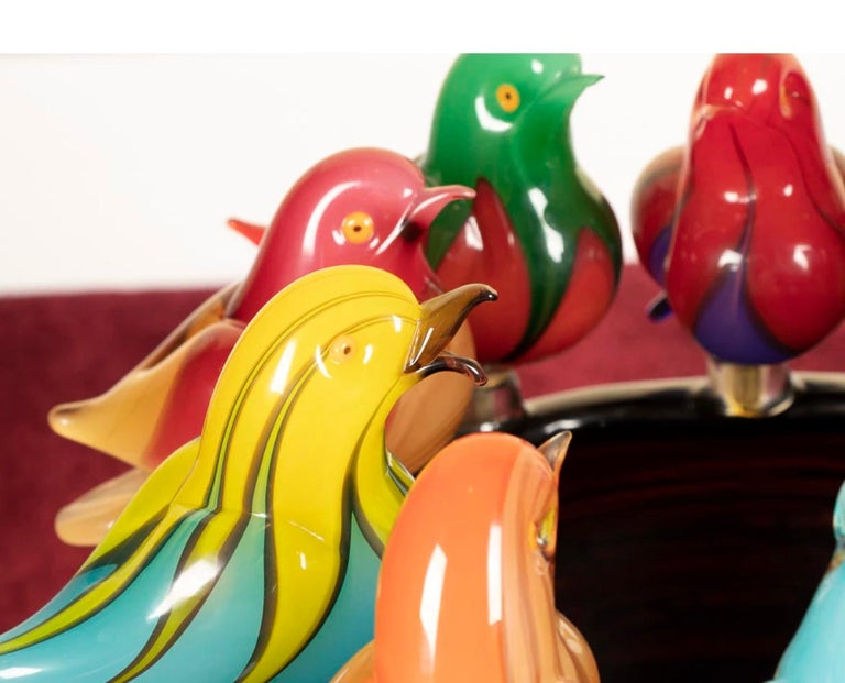 Hand-Crafted Magnificent Murano Art Glass Sculpture by Maestro Sergio Constantini For Sale