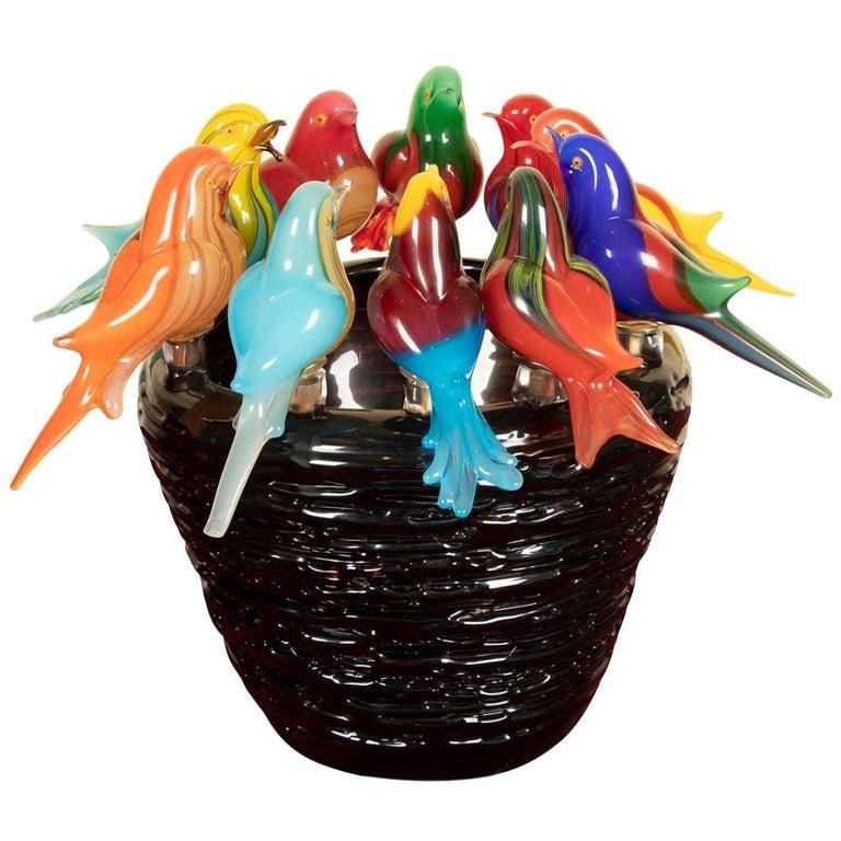 Magnificent Murano Art Glass Sculpture by Maestro Sergio Constantini For Sale