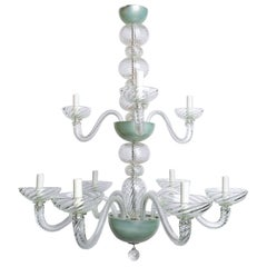 Magnificent Murano Chandlier with Two Tiers