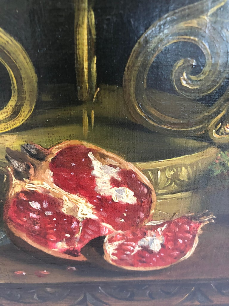 19th Century Magnificent Museum Quality Very Large Realistic Still Life by Francois Abel For Sale