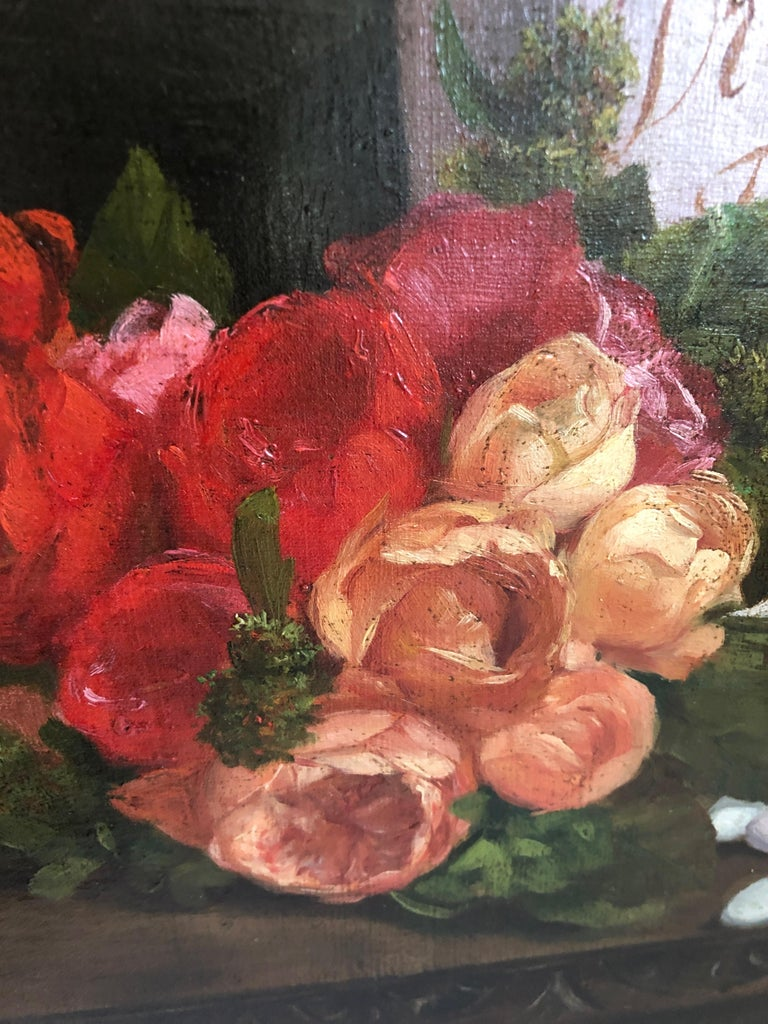 Magnificent Museum Quality Very Large Realistic Still Life by Francois Abel For Sale 1