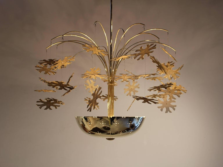 Paavo tynell snowflake chandelier for sale at 1stdibs this is the quintessential scandinavian modernist snowflake chandelier by paavo tynell for taito oy and is mozeypictures Choice Image