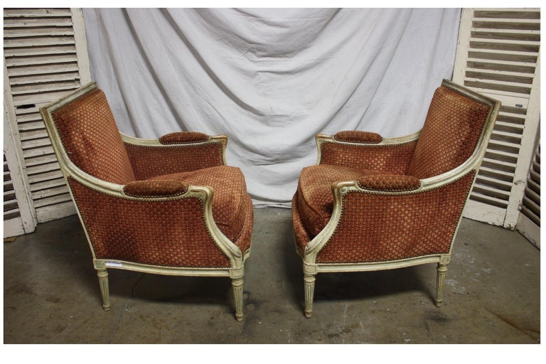 Magnificent Pair of 18th Century French Bergere Chairs In Excellent Condition For Sale In Atlanta, GA