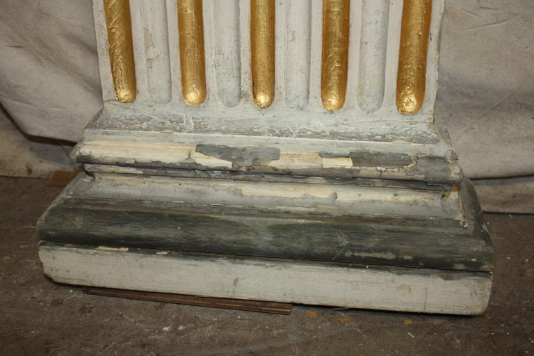 Magnificent Pair of 19th Century French Columns In Good Condition For Sale In Atlanta, GA