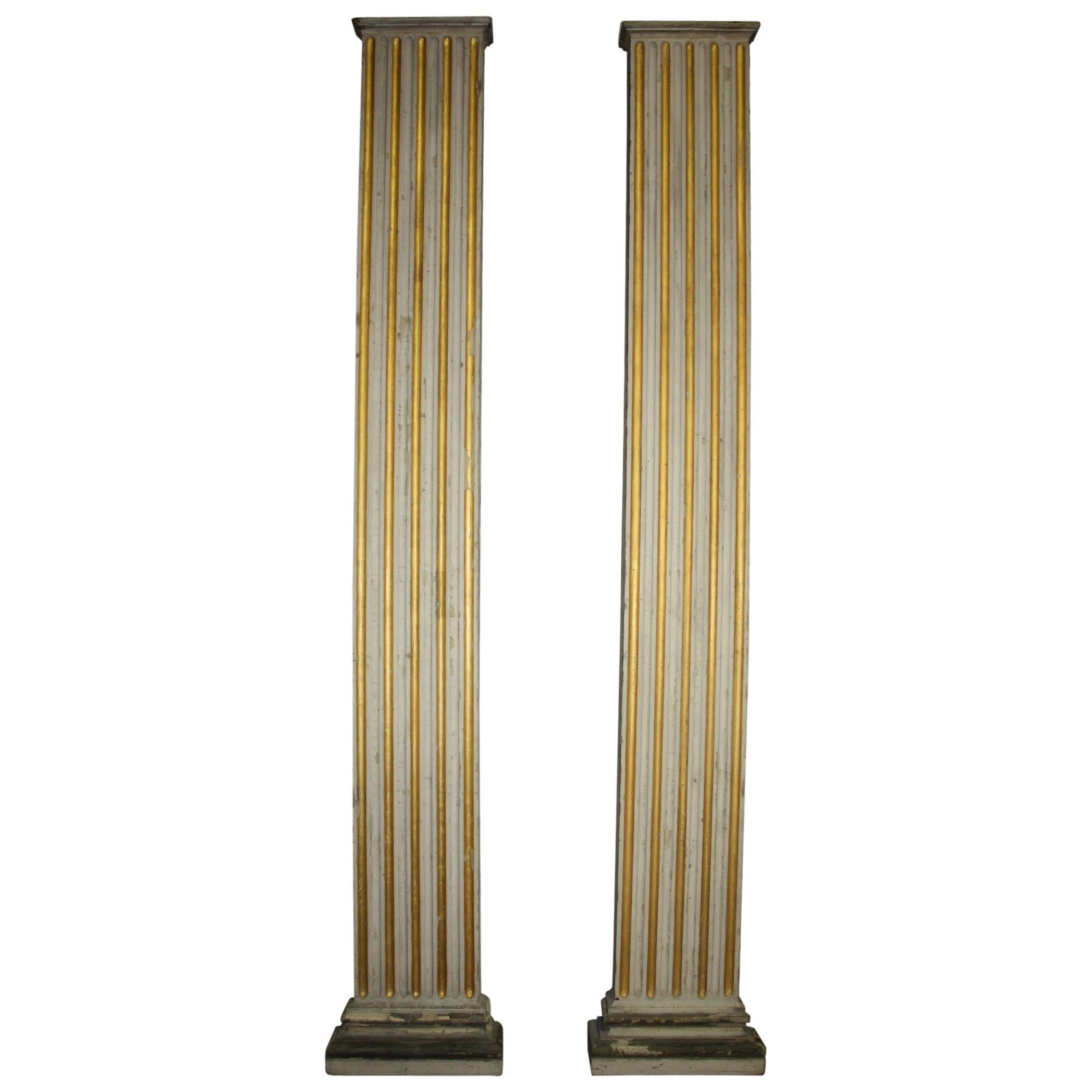 Magnificent Pair of 19th Century French Columns