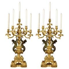 Magnificent pair of candelabra