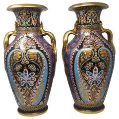 Magnificent Pair of Copeland Vases