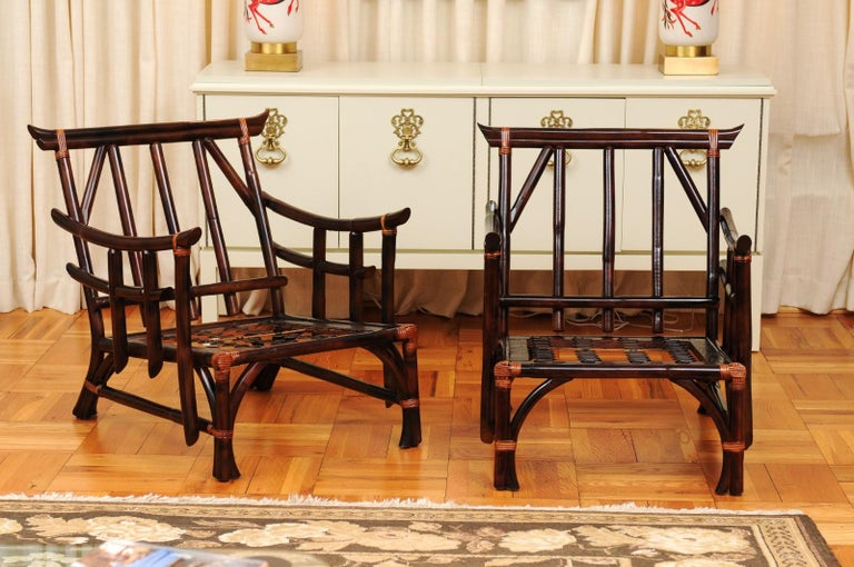 These magnificent lounge chair frames are shipped as professionally photographed and described in the listing narrative: Meticulously professionally restored and ready for upholstery. Expert custom upholstery service is available.  An