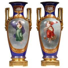 Fine Pair of Vases Royal Porcelain Manufacture of Berlin