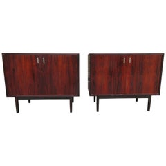 Magnificent Pair of Rosewood Jack Cartwright Founders Bachelors Chest