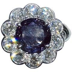Magnificent Platinum Ring with 2.49 Carat Alexandrite