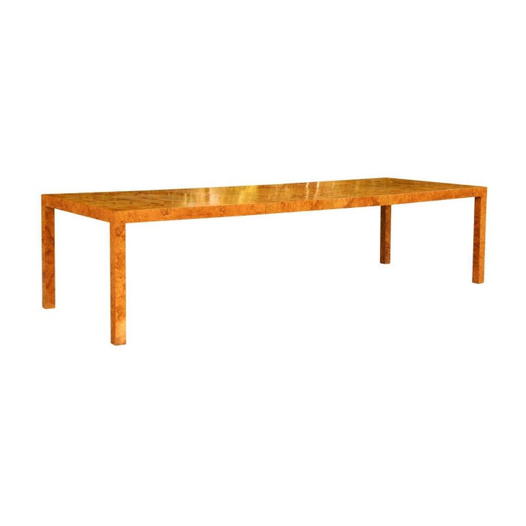 Magnificent Restored Butterfly Patterned Olivewood Dining Table by Milo Baughman