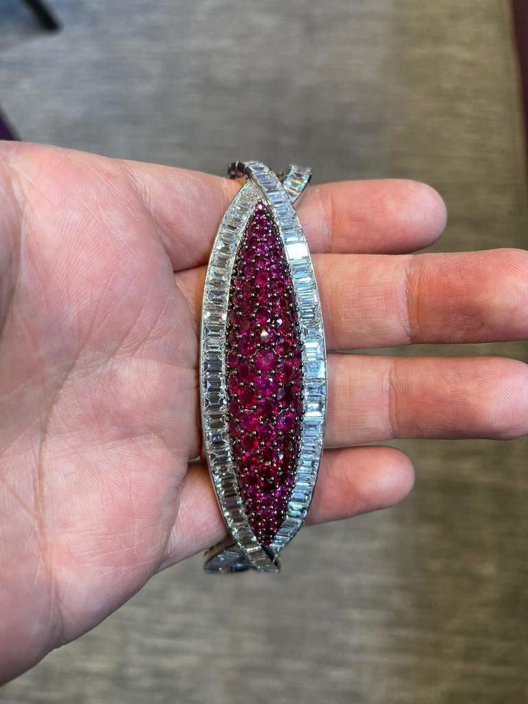 David Webb Ruby and Diamond Bracelet For Sale 2