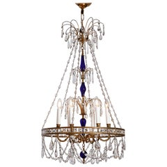 Magnificent Russian Chandelier in Cobalt Blue