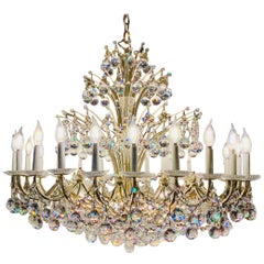 Magnificent Schonbek Contessa 36 Light Crystal Chandelier #4824 Gold Finish