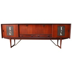Magnificent Sideboard / Credenza by Louis Van Teeffelen for Webe 1950s Ceramic