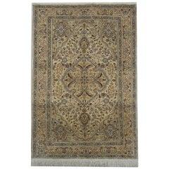 Magnificent Silk Rug, Turkish Rug Oriental Kayseri, Hand Made Carpet Area Rug