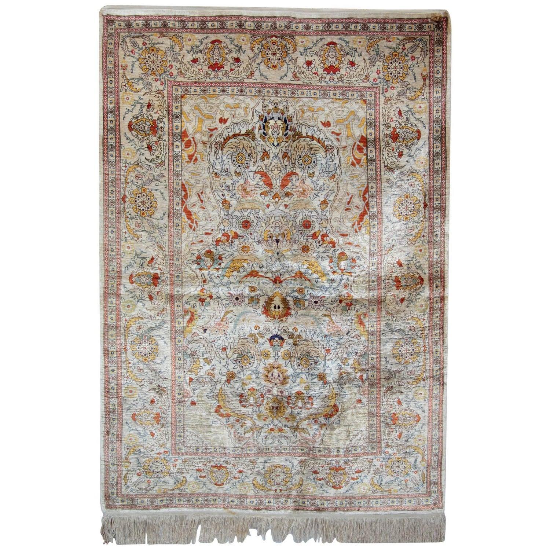 Magnificent Silk Rugs Turkish Hereke Oriental Rug Of Small Uk