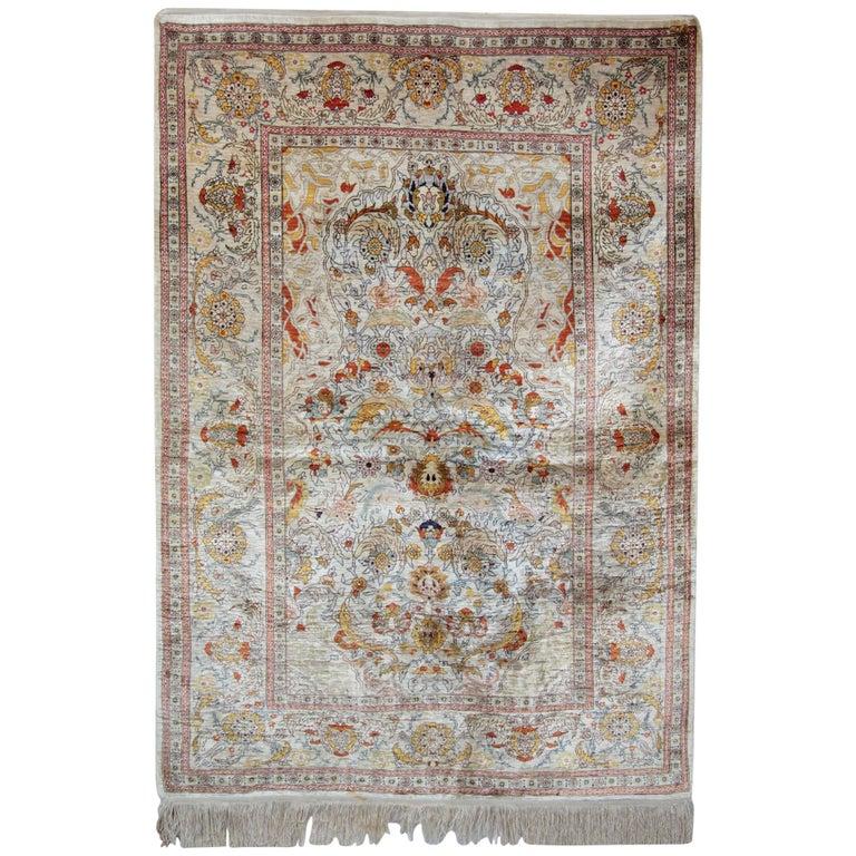 Hereke Silk Rug Youtube: Magnificent Silk Rugs, Turkish Hereke Oriental Rug Of