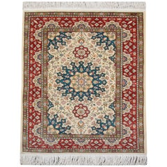 Magnificent Silk Rugs, Turkish Hereke Oriental Rug with Weaver's Mark
