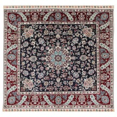 Magnificent Square Vintage Chinese Herekeh Silk Rug with Traditional Area Rug