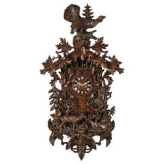 Magnificent Swiss 19th century Black Forest Cuckoo Wall Clock