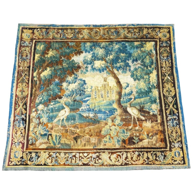 Magnificent Tapestry, Early English Aubusson, 17th Century For Sale