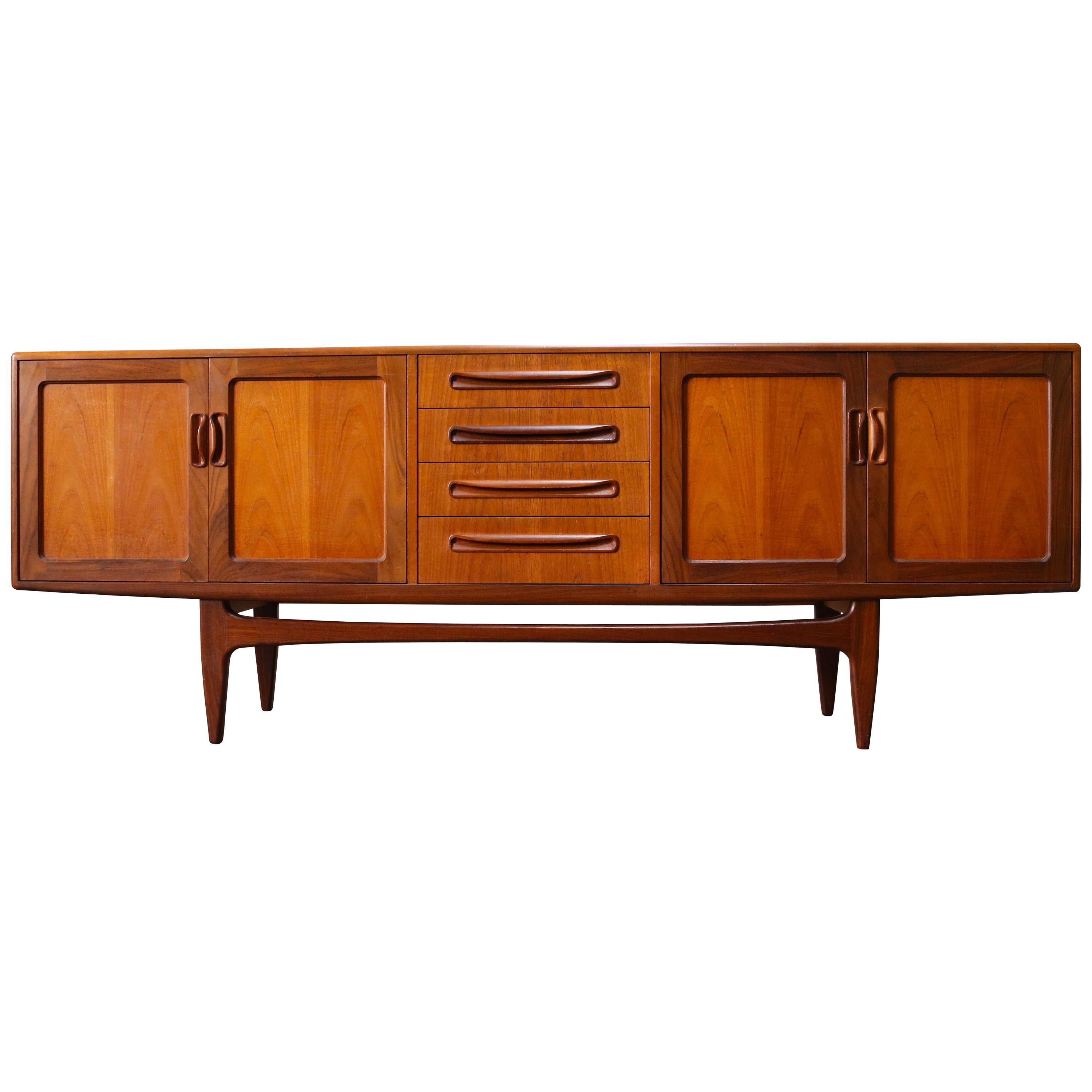 Magnificent Teak Credenza / Sideboard by Ib Kofod-Larsen for G Plan, 1950s