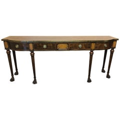 Magnificent Theodore Alexander Brooks Console with Brass Inlay and Greek Key