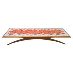 Magnificent Tile Top Coffee Table, Mid-Century Modern