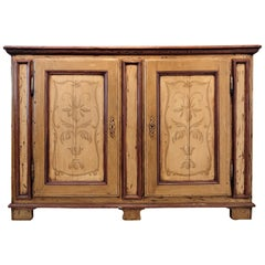 France, Provence Magnificent Trompe L'oeil French Painted Sideboard