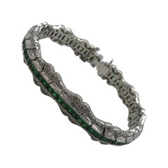 Magnificent Tsavorite and Diamond Bracelet 18 Karat