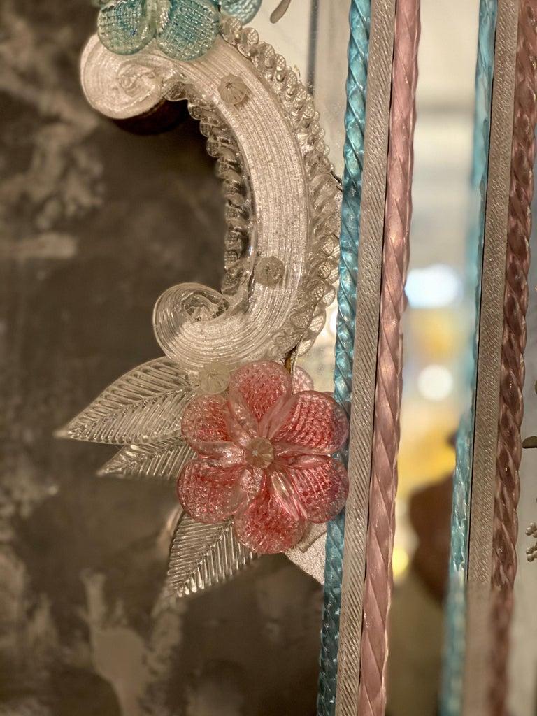 Late 20th Century Magnificent Venetian Murano Glass Mirror