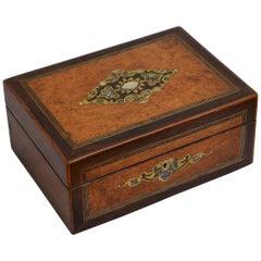 Magnificent Victorian Jewelry Box in Amboyna
