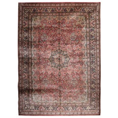 Magnificent Vintage Chinese Herekeh Silk Rug with Traditional Area Rug