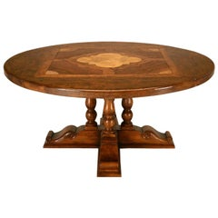 French Hand-Craft Solid Walnut Dining Table Available in Any Dimension