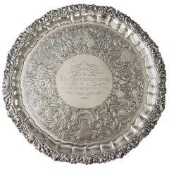 Magnificent William IV Irish Silver Salver Dublin, 1835