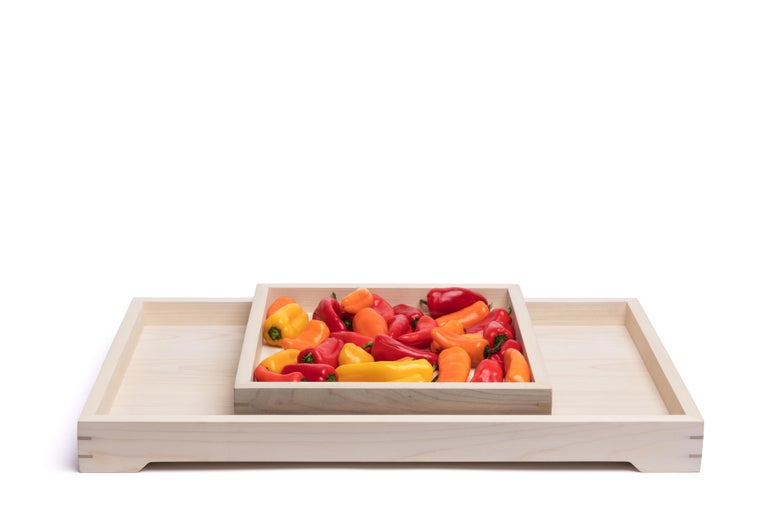 We made this Handmade White Magnolia Wood and Brass Tray for lazy Sundays spent reading the paper with coffee and scones, but it would be perfect to use for hosting an afternoon tea, or as barware to pass out drinks at a cocktail party.  When not in