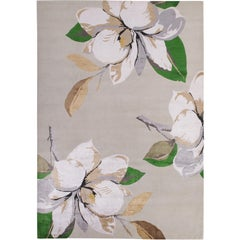 Magnolia Ice Hand-Knotted 10x8 Rug in Wool and Silk by Vivienne Westwood