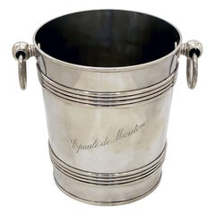 Magnum-Sized French Ice Bucket or Wine or Champagne Cooler, Epaule De Mouton